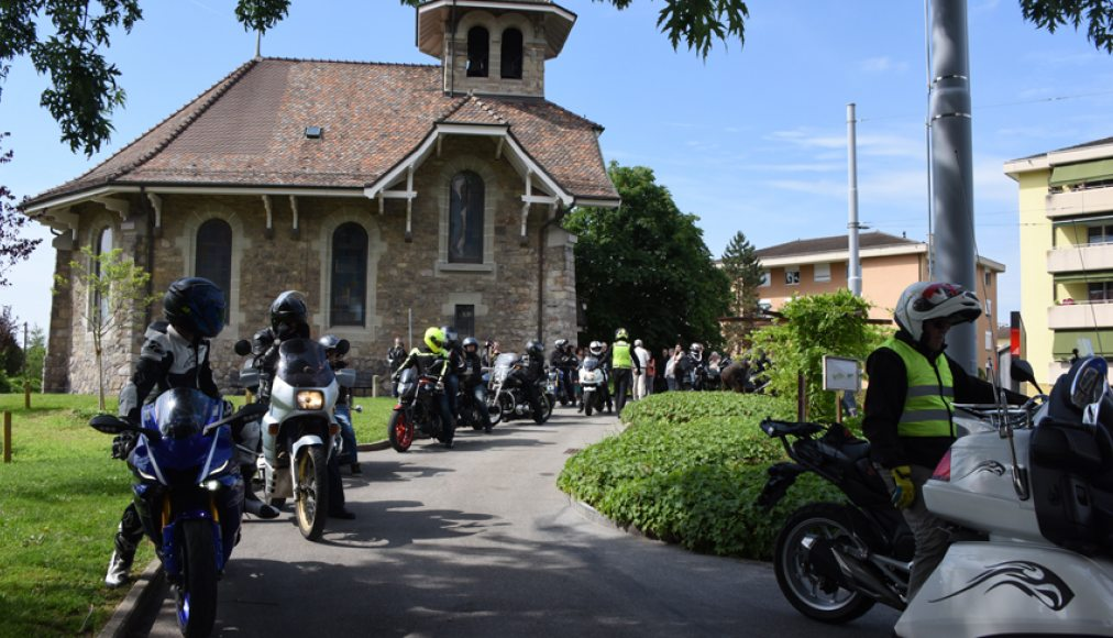 Bénédiction des motards à Chavannes (photo: Gérard Jaton)